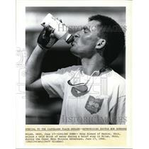 1990 Press Photo Mike Elwwod during Great Ohio Bicycle Adventure