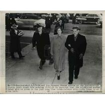 1950 Press Photo Dr and Mrs Hermann Sander arrive at Hillsborough Courthouse