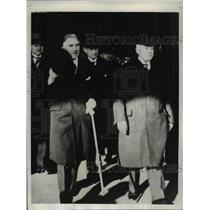 1932 Press Photo Prime Minister Schieck of Saxony Chancellor Fritz con Paren