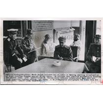 1951 Press Photo of North Korean officers awaiting their investigation for war