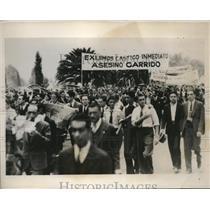 1935 Press Photo Mexico City student protest, 3 killed at National University