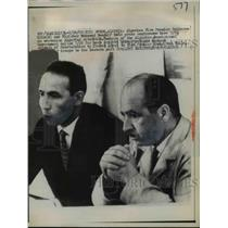 1952 Press Photo Algerian Vice Premier Belkacom Krim & Minister Mohamed Boudaif