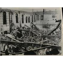 1936 Press Photo High Winds Sweep Through Indianapolis Destroys 4 Buildings