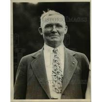 1931 Press Photo James H Breedlove Dean of Union Pacific Conductors - nee08274