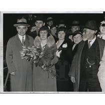 1934 Press Photo Alexander Troyanovsky Soviet Ambassador to US & Mrs Troyanovsky