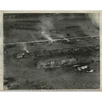 1932 Press Photo Bonus Army Camp Wreckage, Washington D.C. - nee08541