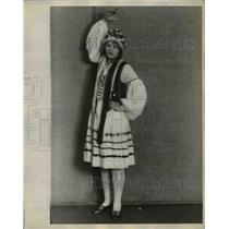 1929 Press Photo Irene Raskowski in Polish folk costume