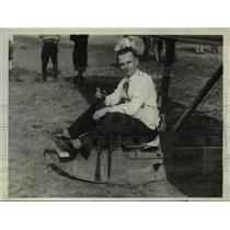 1930 Press Photo Capt. Frederick A Ripping winner of spot landing contest