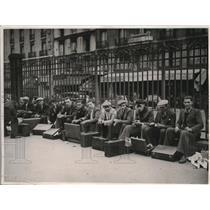 1938 Photo French recruits Gare de l'Est wait to go to Maginot Line