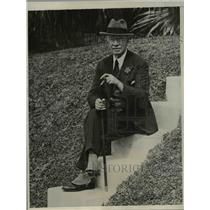 1932 Press Photo James Powers Well Known Actor Vacationing in Bermuda