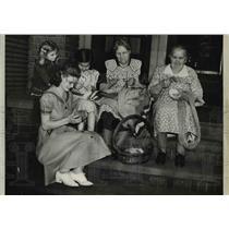 1941 Press Photo Mrs Eleanor Pekarekm J Vuhnal, S Pokerry, Mrs J Kral,Mrs Adamec