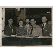 1940 Press Photo Ohio Taft Convention, Matt Fromato, Miss Ruth McConnell