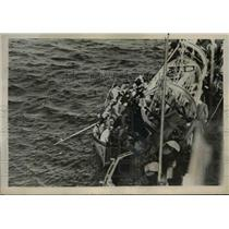 "1939 Press Photo Rescued Survivors of Torpedoed French Liner Ship ""Bretagne"""