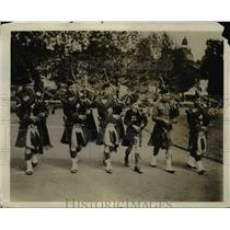 1929 Press Photo Scots Guards PIpers - nee14842