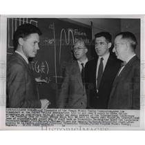 1955 Press Photo French Atomic Energy Commissioner Michael Trocheris - nee15754