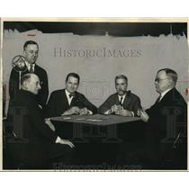 1928 Press Photo Maurice Maschke Henry Jaeger Omar Mueller Carl Robertson WTAM