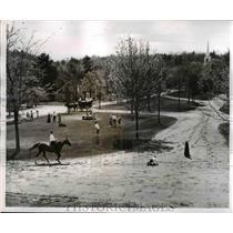 1957 Press Photo Early New England, Old Sturbridge Village, Massachusetts