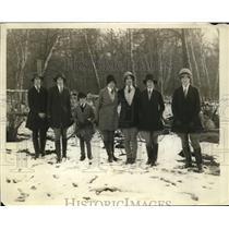 1928 Press Photo Kimberly School Horse Show Members, Montclair Riding Club