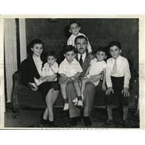 1938 Press Photo Thomas D'Alesandro, Maryland Congressman & Family - nee13557