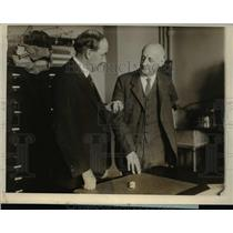 1926 Press Photo John Merriam and Simon Flexner at National Academy of Science