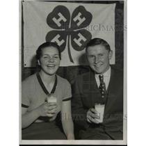1934 Press Photo Leland Monasmith and Miss Doris Louise Chosen as Healthiest