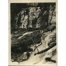 1925 Press Photo Upper waterfalls on S branch of Do\yles Run Browns Cove