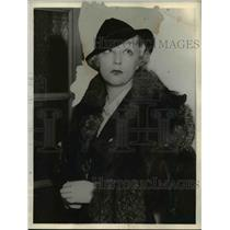 1935 Press Photo Mrs. Irma S. Warner won a divorce from Jack L. Warner