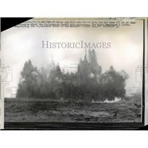 1958 Press Photo Dynamite blast in Massena,New York - nee12688