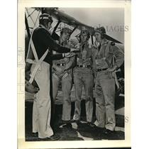 Press Photo Instructor, Student Cadet Pilots in Military Flying School