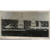 1940 Press Photo Chile Navy Cadets, Santiago National Stadium Football Game
