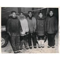 1942 Press Photo Eskimos L Arvankana, G Mongoyak, B Kudialuk,H Koonaldak
