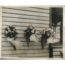 1927 Press Photo The small wreaths at Eugene Hart house - nee17740