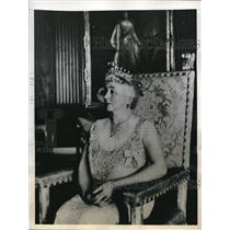 1944 Press Photo Lady Wavell at the Viceroy's House in new Delhi  - nee20352