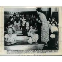 1945 Press Photo German teacher selected by AMG after a careful screening