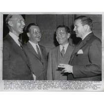 1956 Press Photo Henry Ford and Staurt Hawes Vice President of Blythe and Co.