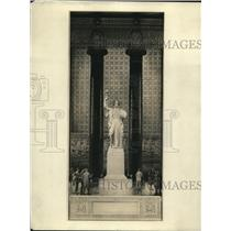 1923 Press Photo Design for Statue to be Place in Indiana War Memorial