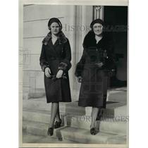 1931 Press Photo Madame Edgar L.G. Prochnik, Daughter Valeria of Austria