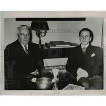 1936 Press Photo Austrian Minister Dr.Guldo Schmidt with F. von Neurath