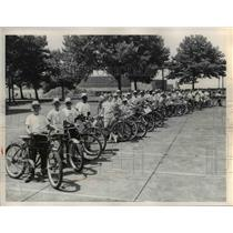 1959 Press Photo Bike Rodeo District Champs Safety Competition - nee23255