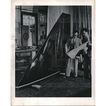 1952 Press Photo Delta Shaped Plastic Aircraft Wing Royal Aircraft Farnborough