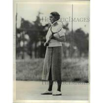 1934 Press Photo Mrs. Richard Lovering on the tennis court at Pinehurst