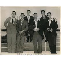 1937 Press Photo US Ski Team DuBois, Litchfield, Hunter Jr, Wells,Chivers