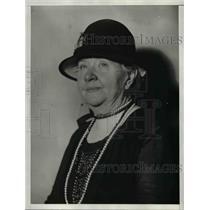 1929 Press Photo Mrs.Caroline Gardner Bartlett, exonerated of being a German Spy