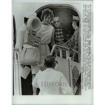 1961 Press Photo Miami, FL Diane Polnik on hikacked airplane - nee24319