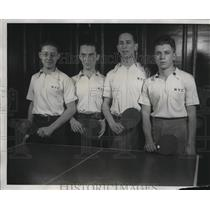 1934 Press Photo National Intercity Ping Pong Championship in Chciago