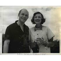 1941 Press Photo Mrs Mark Robertson & Harold Christie Fish Haul Nassau