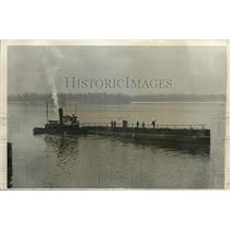 1931 Press Photo The Nautilis on the way to Mathis Shipyards in Delaware