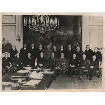 1938 Press Photo Schuschinigg's new cabinet in session in Vienna - nee27552
