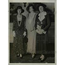 1931 Press Photo Mrs. James Reed, Mrs. Horace Lorimore and Mrs. James J. Davis
