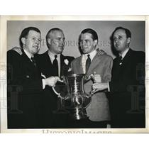 1941 Press Photo Natl Bridge champs R McPherram, S Stearns, J Crawford,